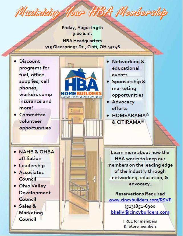 Maximizing Your HBA Membership - 9:00 - 10:00 a m