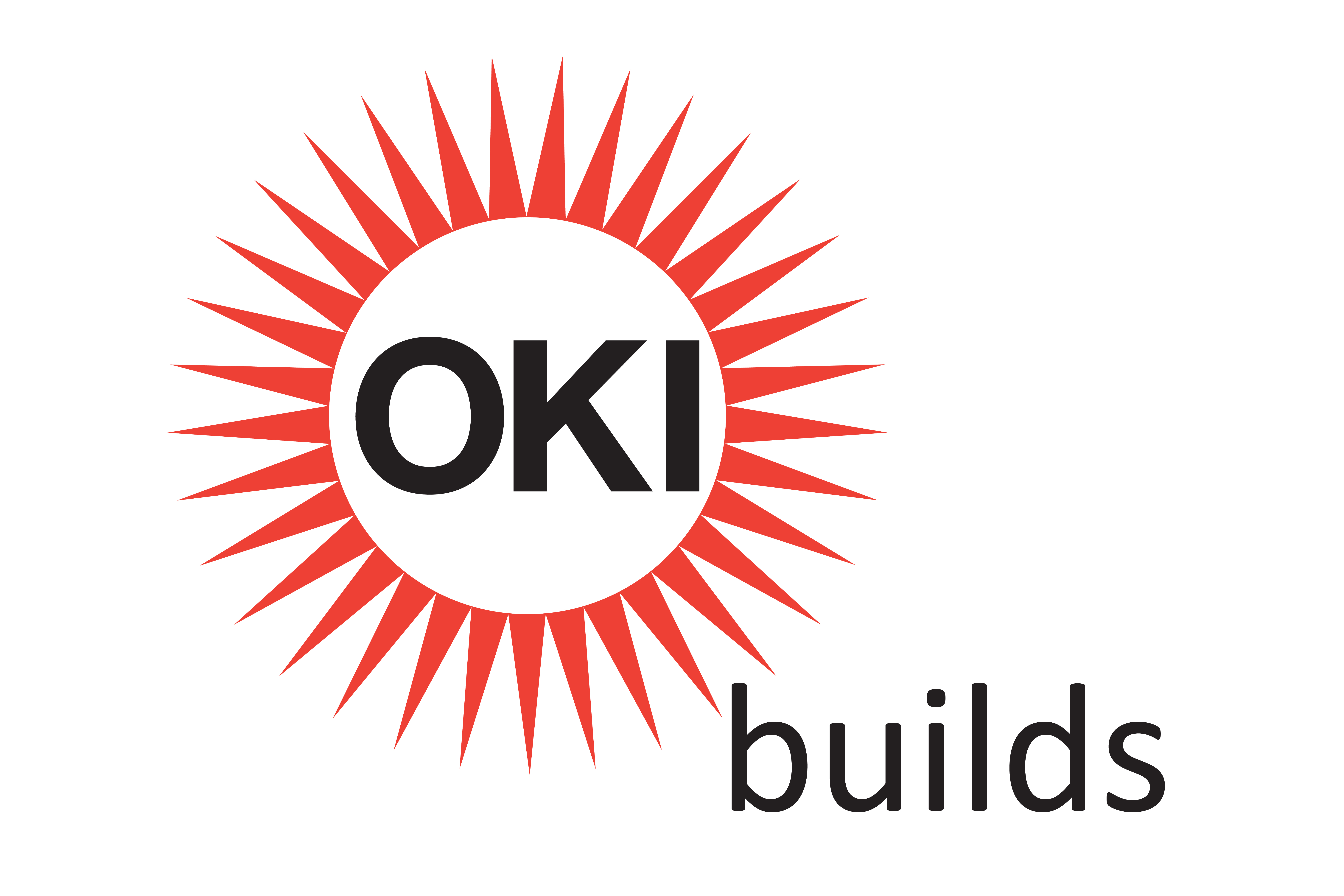 OKI Builds logo